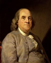 Benjamin Franklin. Image Courtesy of Wikimedia Commons.